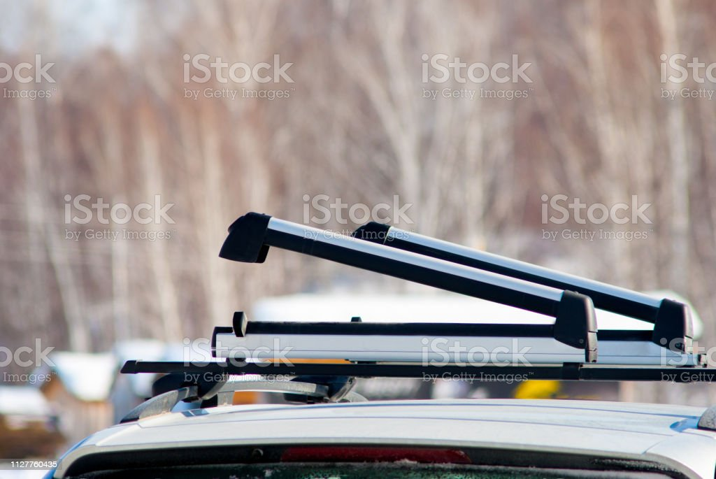 opened ski or snowboard car roof rack stock photo download image now istock