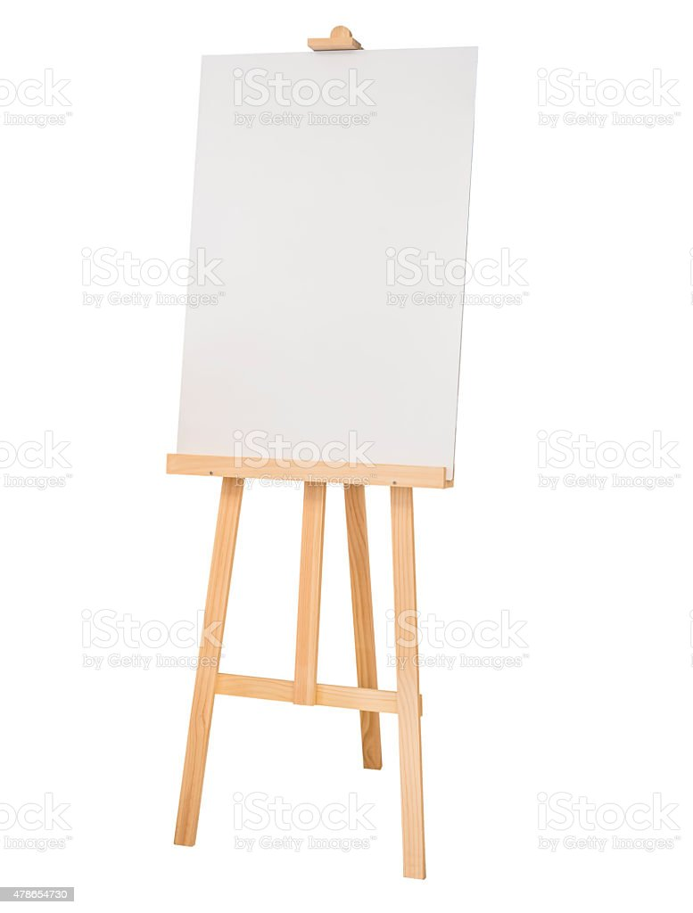 https www istockphoto com photo painting stand wooden easel with blank canvas poster sign board gm478654730 67487967