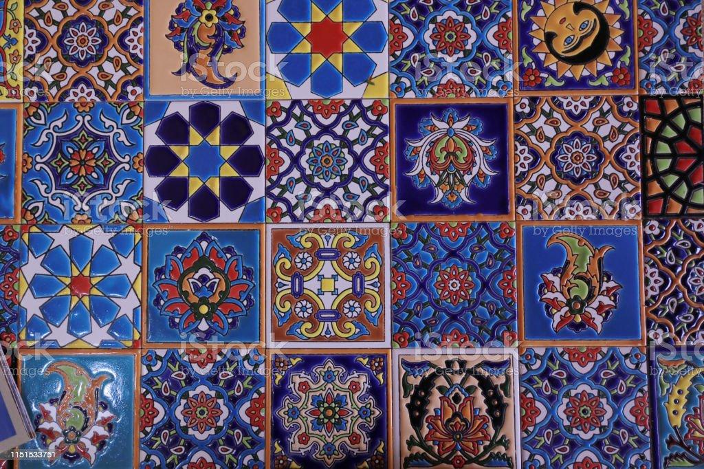 persian decorative ceramic tiles stock photo download image now istock
