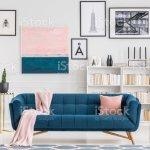 Rosa Und Blaue Wohnzimmer Stockfoto Und Mehr Bilder Von Blau Istock