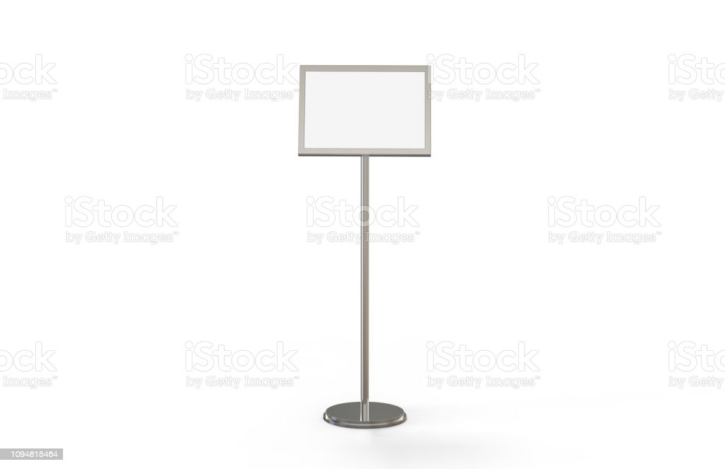 a3 poster stand floor display stands snap frame poster board menu holder advertisement sign stand on white background 3d illustration stock photo download image now istock