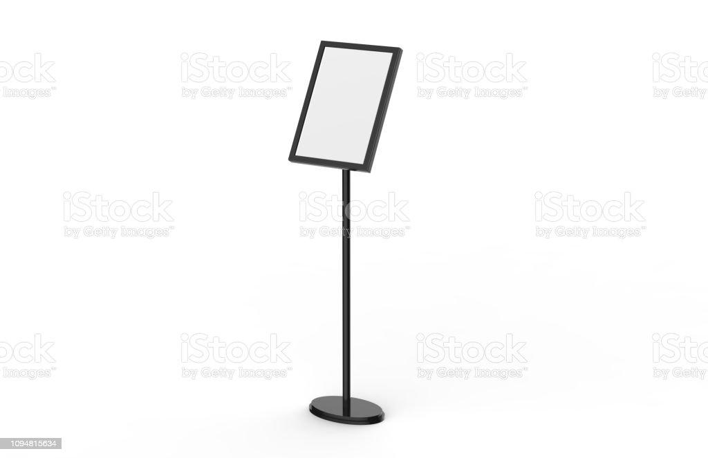 https www istockphoto com de foto a3 plakat stand boden display steht snap frame plakatkarton men c3 bckarten halter werbung gm1094815634 293850906
