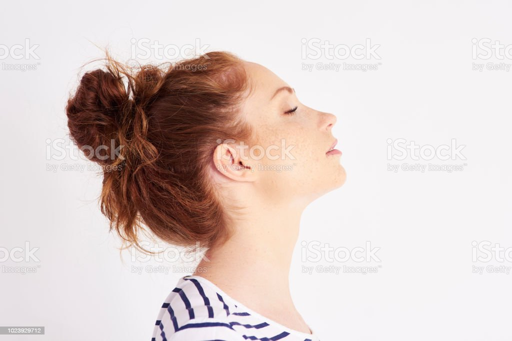 Profile View Of Womans Face At Studio Shot Stock Photo Download Image Now Istock
