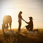 Proposal At Sunset With Horse Stock Photo Download Image Now Istock