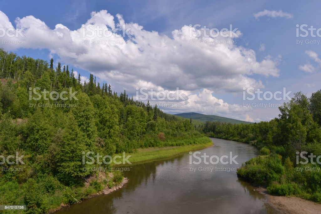 Royalty Free Interior Alaska Pictures  Images and Stock Photos   iStock Quiet river  Alaska stock photo