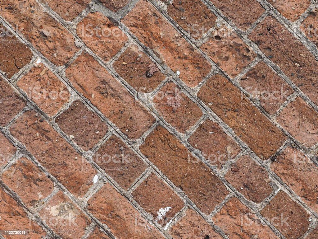 Photo Libre De Droit De Fond Carreaux Diagonale De Mur De Brique Rouge Banque D Images Et Plus D Images Libres De Droit De Architecture Istock
