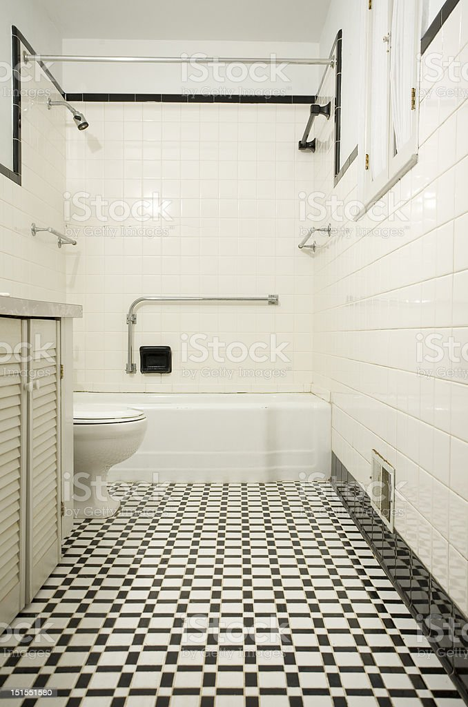 https www istockphoto com photo retro black and white bathroom gm151551580 10173142