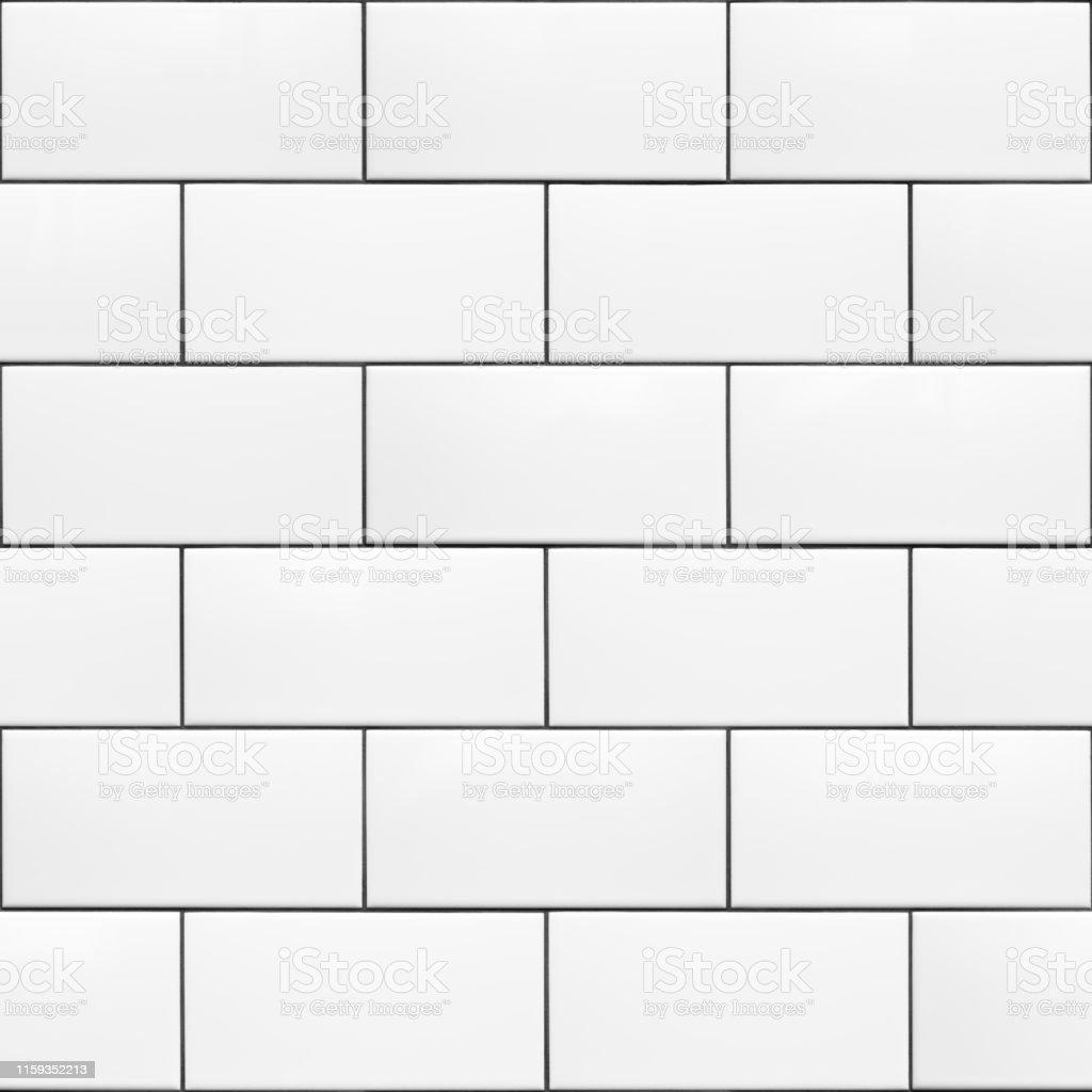 seamless pattern white 200 x 100 ceramic subway tiles running bond stock photo download image now istock