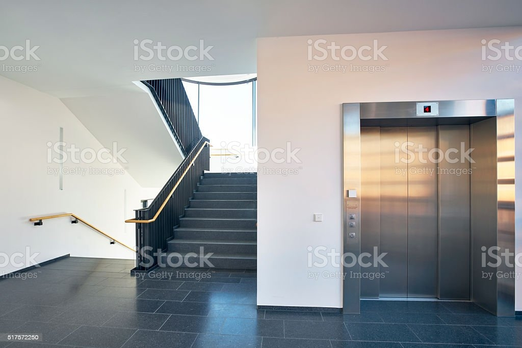 Staircase Modern Building Window Lift Stock Photo Download Image | Modern Staircase Window Design | Architecture | Small House Stair | Section Window | Elegant | Wooden