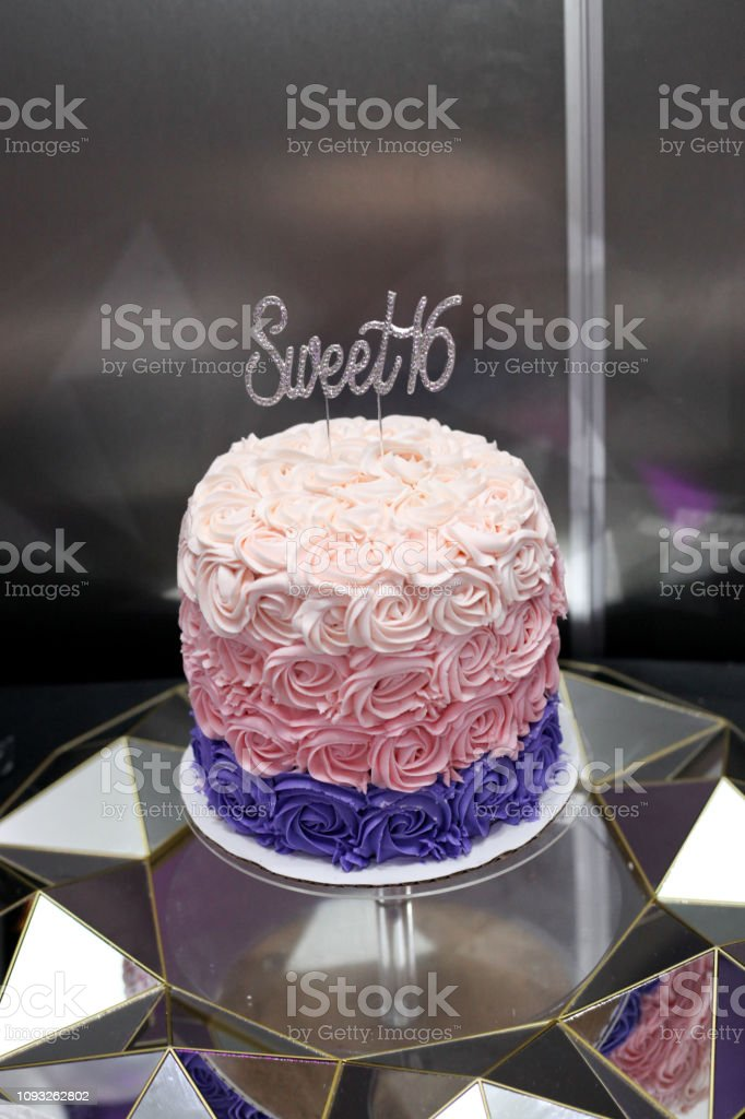 Sweet Sixteen Birthday Cake For A Girl Stock Photo Download Image Now Istock