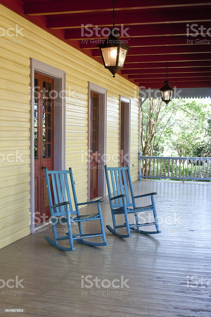 Two Empty Rocking Chairs Stock Photo Download Image Now Istock
