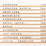 Wall Coffee Shop Menu Board On White Wall In Small Cafeteria Stock Photo Download Image Now Istock