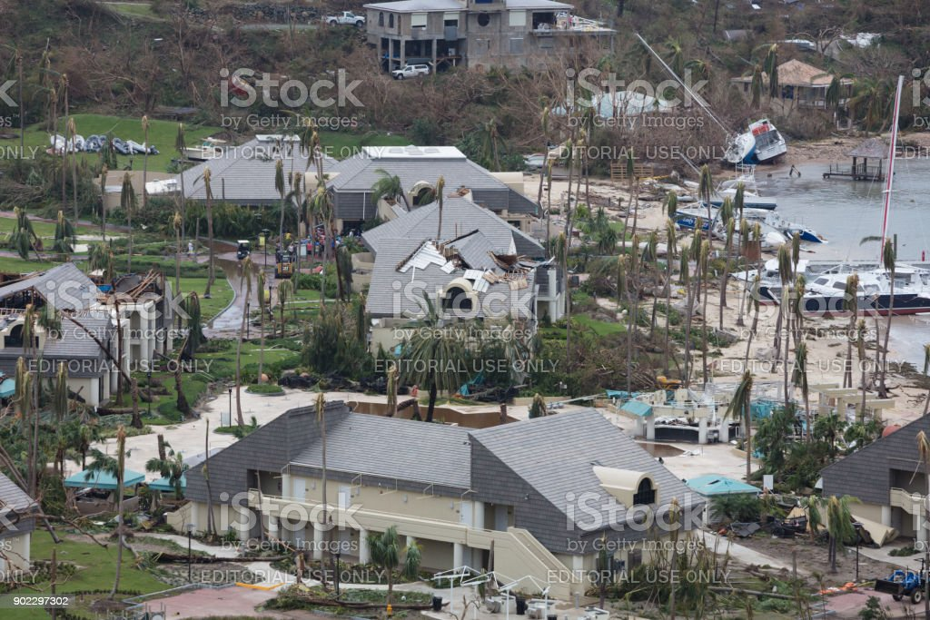 Westin Resort In Aftermath Of Hurricane Irma St John Stock