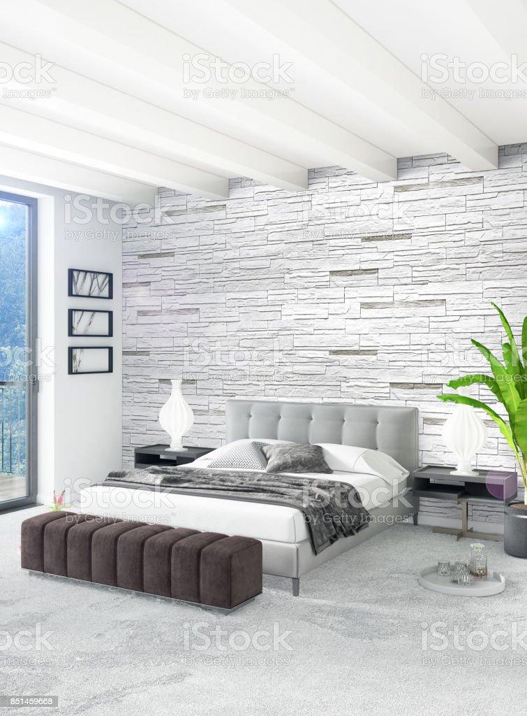 photo libre de droit de style minimal de chambre blanche decoration murale bois et canape gris rendu 3d illustration 3d banque d images et plus d images libres de droit de appartement istock