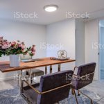 White Home Office With Chrome And Wood Desk Stock Photo Download Image Now Istock