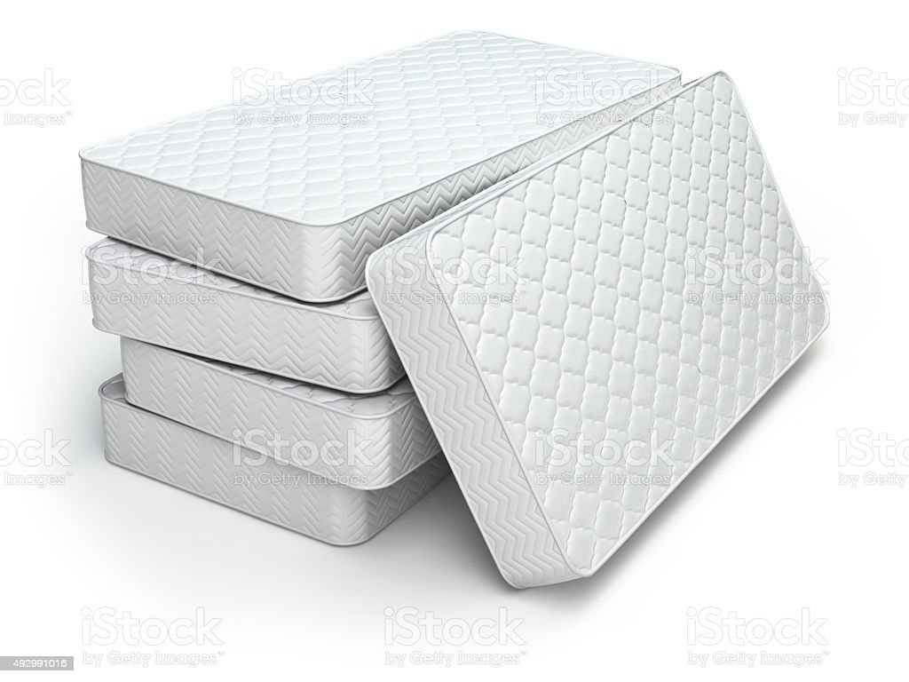 Royalty Free Mattress Pictures  Images and Stock Photos   iStock White mattress isolated stock photo