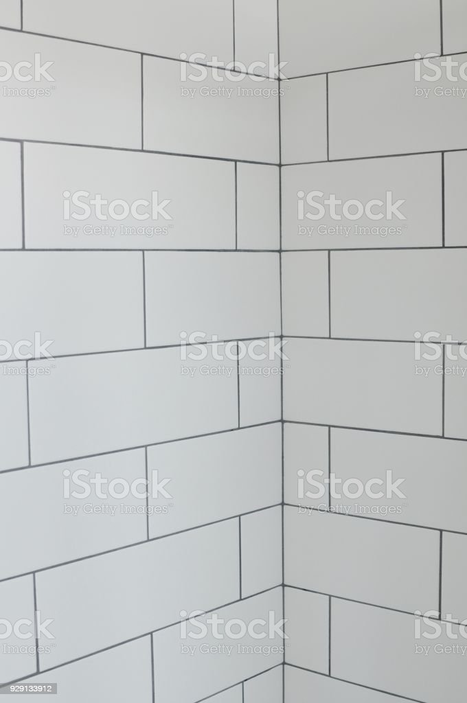 white subway tiles in shower stock photo download image now istock