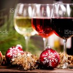 Wine Glasses On Rustic Outdoor Dining Table Christmas Ornaments Stock Photo Download Image Now Istock
