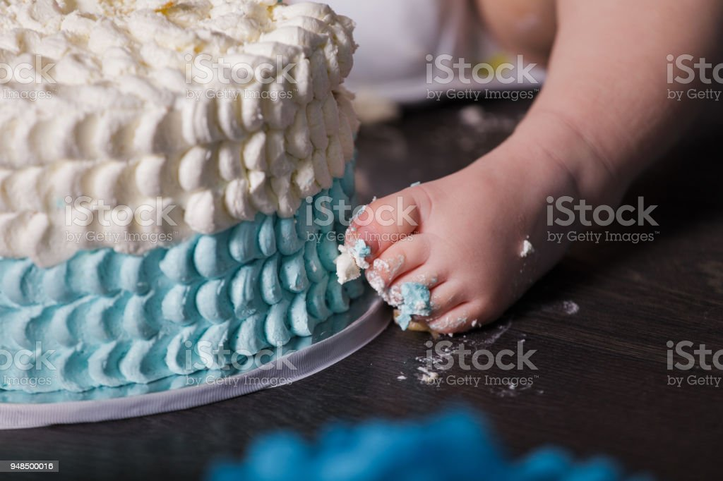 1 Year Old Baby Boy Celebrating His First Birthday Stock Photo Download Image Now Istock