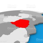 Zimbabwe On Globe In Red Stock Photo Download Image Now Istock