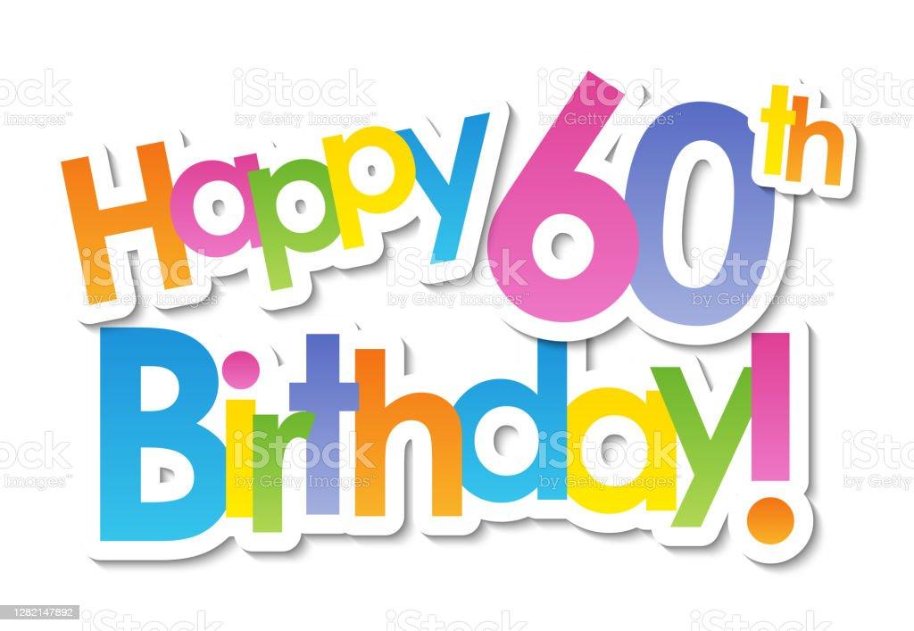 326 60th Birthday Illustrations Clip Art Istock