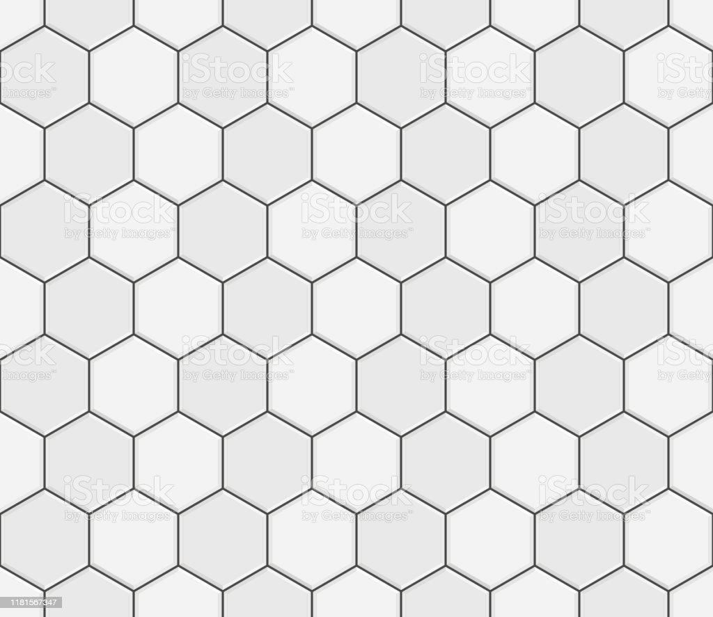 motif abstrait sans couture carrelage en ceramique gris blanc blocs de pave hexagonal en beton conception de la texture geometrique de mosaique pour la decoration de la salle de bains illustration de