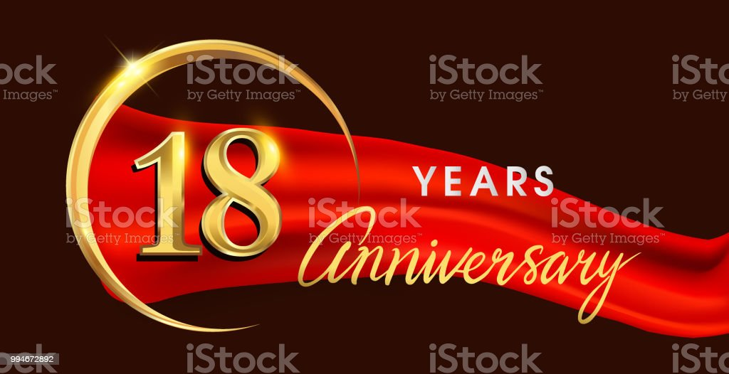 https www istockphoto com vector anniversary logotype with golden ring isolated on red ribbon elegant background gm994672892 269324954