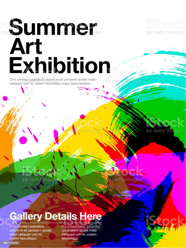 art exhibition poster stock illustration download image now istock