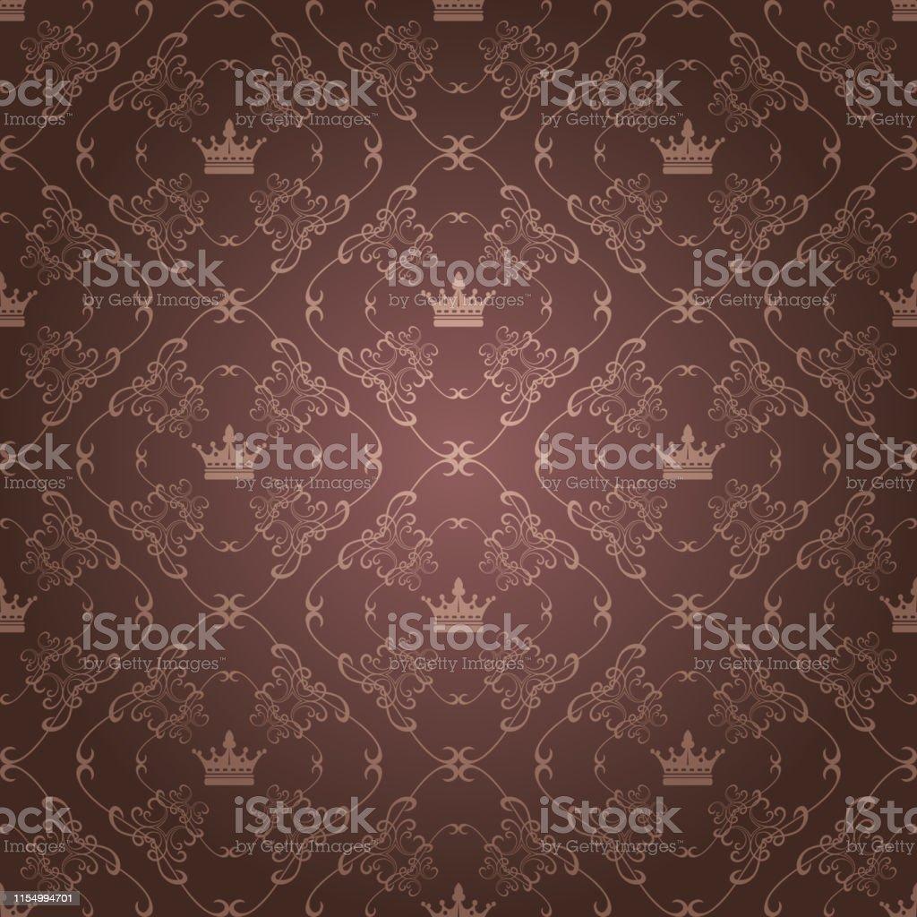 de fond fond decran marron style royal vecteurs libres de droits et plus d images vectorielles de abstrait istock