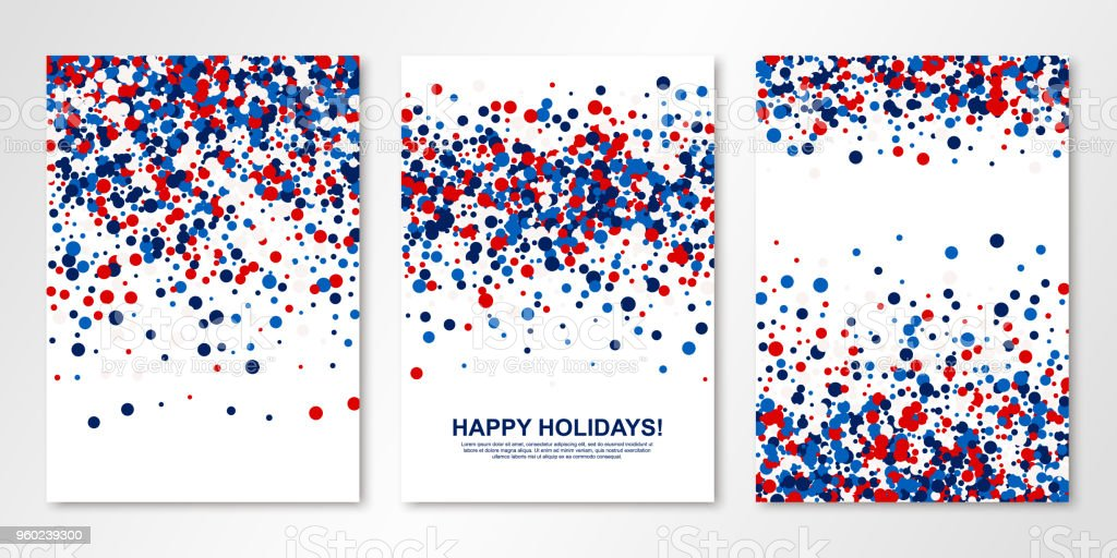 Background And Red White Blue Confetti