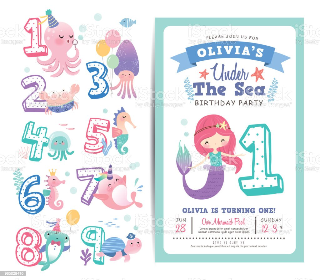 birthday party invitation card template stock illustration download image now istock