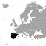 Black Map Of Iberian Peninsula Stock Illustration Download Image Now Istock