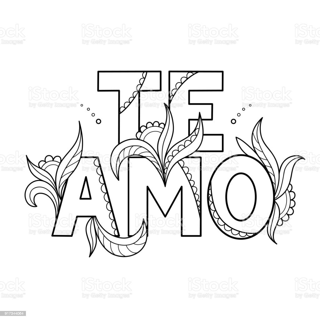 Black Outline Isolated Hand Drawn Decorative Quote In