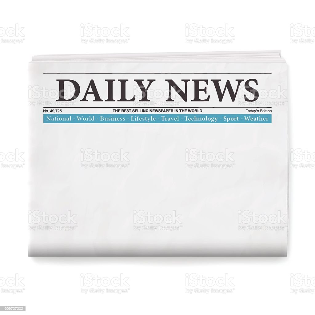 Front Page Newspaper Template Blank