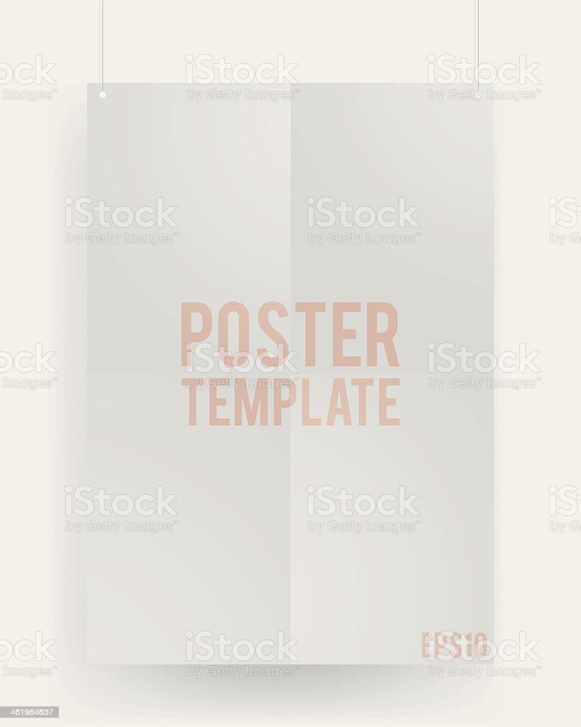 vide modele d une feuille de papier sur le mur vide modele dune feuille de