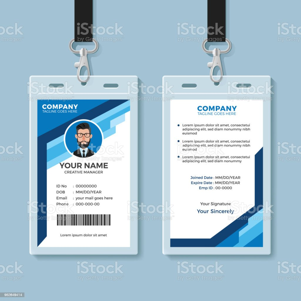 Id Card Illustrations Royalty Free Vector Graphics Amp Clip