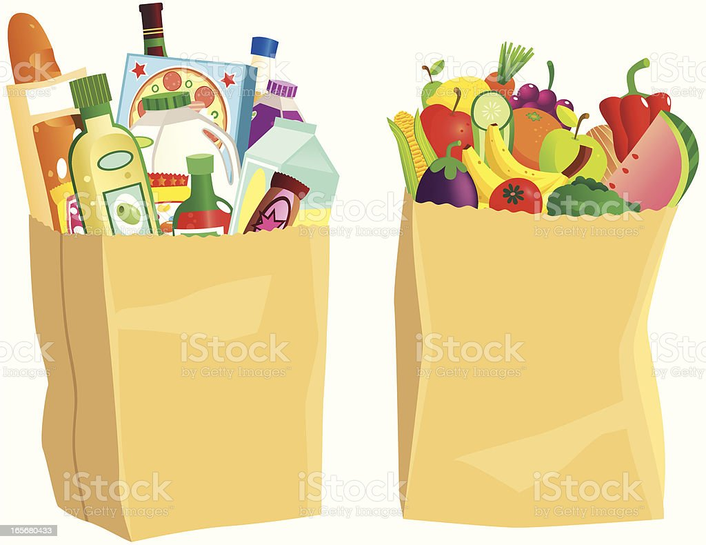 And Images Cans Paper Plastic Bags Grocers