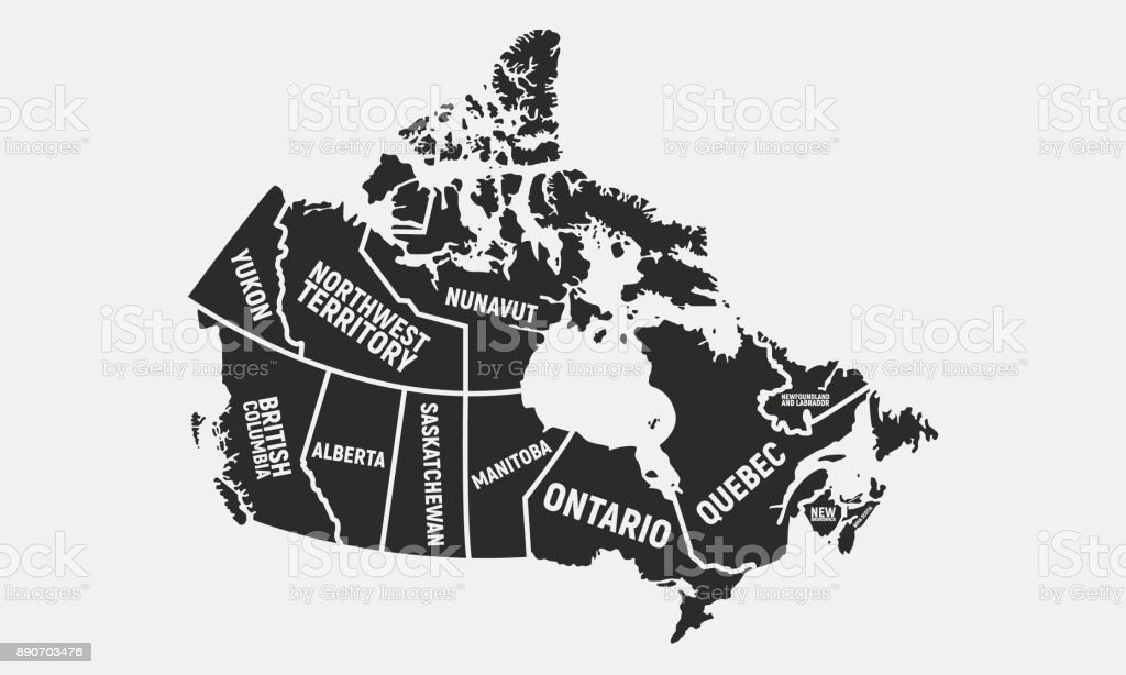 Canada Map With Capitals map of canada