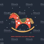 Cartoon Red Wooden Rocking Horse Stock Illustration Download Image Now Istock
