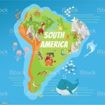 Cartoon South America Continent Geographic Map Stock Illustration Download Image Now Istock