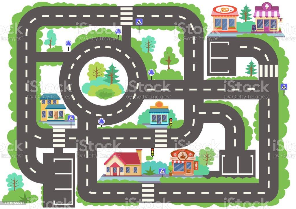 route de ville enfants jeu de plateau fond decran ou un tapis pour chambre denfants les enfants fond avec autoroute avec batiments fond pour voiture enfantin de jeu labyrinthe avec la signalisation