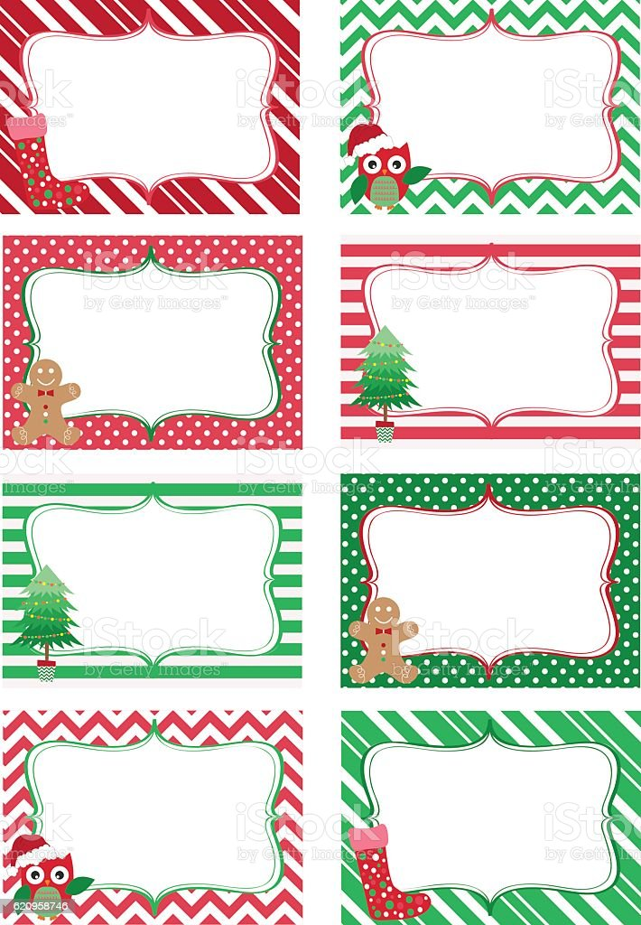 avery christmas label clip art
