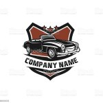 Classicvintage Car Vector Design Inspiration Auto Car Logo Design Template Classic Vehicle Symbol Logotype A Classic Car Symbol Silhouette Vintage Car Simple Line Art Logo Stock Illustration Download Image Now Istock