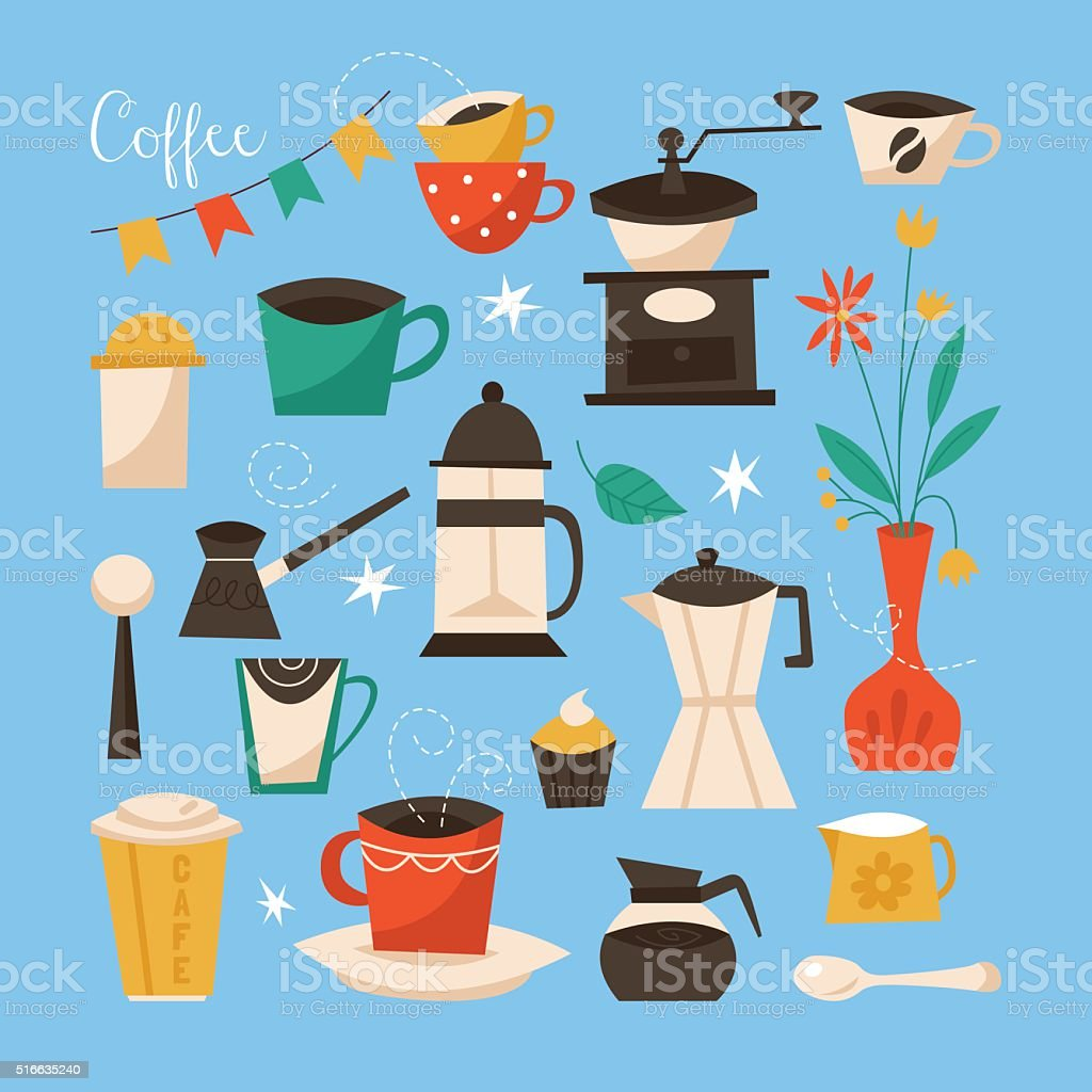 https www istockphoto com vector coffee poster design creative vector illustration with coffee cups gm516635240 89076721