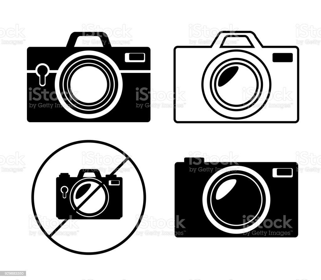 https www istockphoto com fr vectoriel collection appareil photo monochrome design graphique gm929883350 254968858