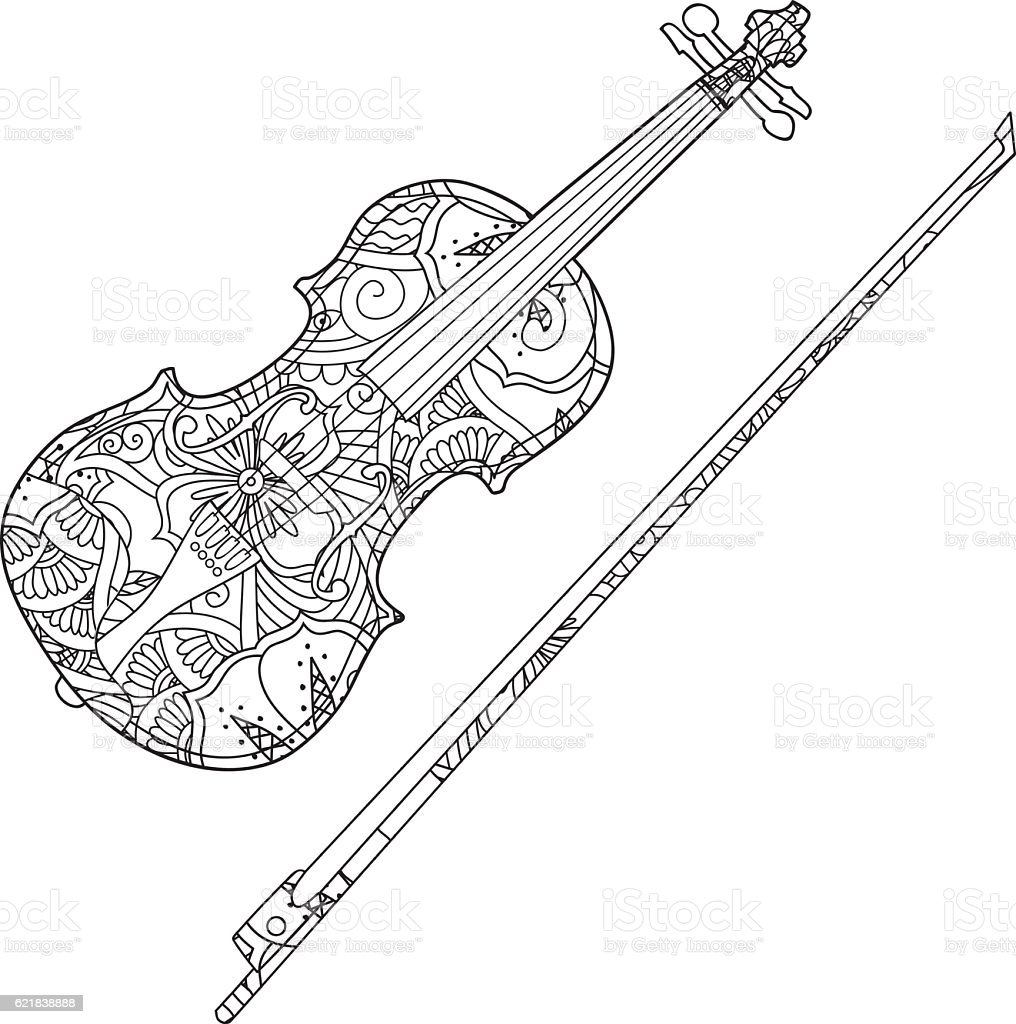 Violin Coloring Pages