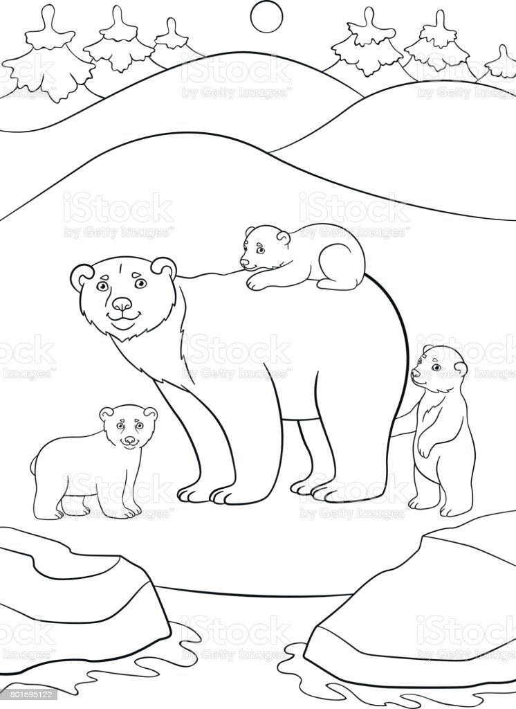 Animales Colorear Para Del Artico