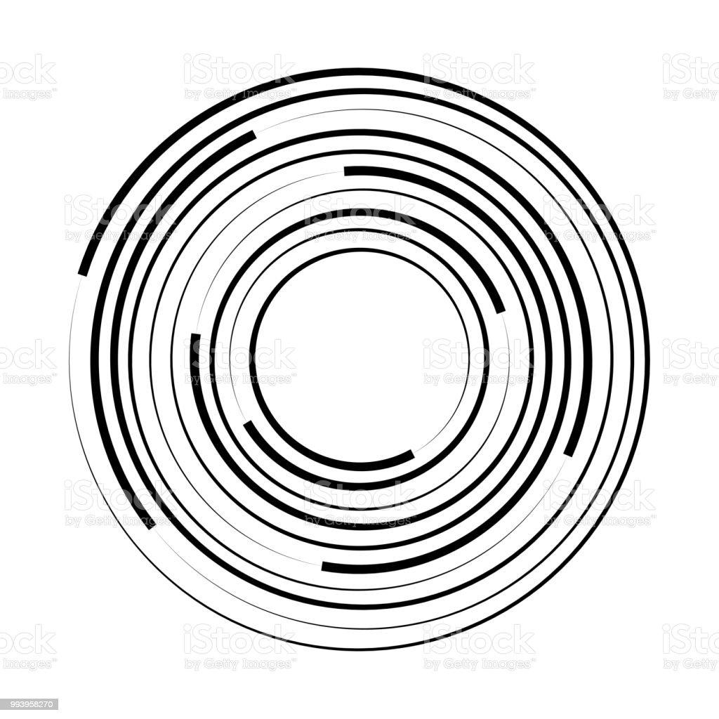 同心圓幾何元素向量插圖向量圖形及更多催眠圖片 - iStock