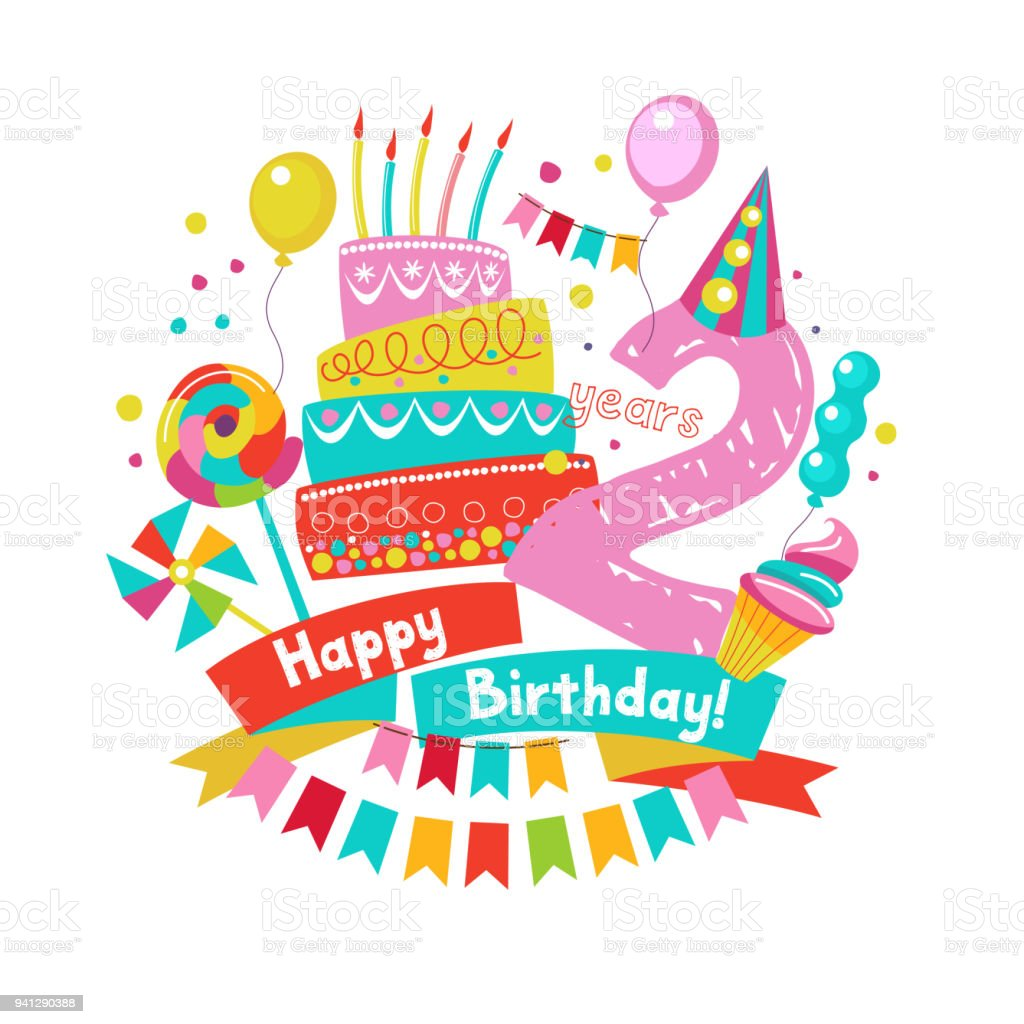 509 2 Year Old Birthday Illustrations Clip Art Istock