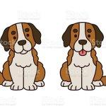 Cute Saint Bernard Puppy Stock Illustration Download Image Now Istock
